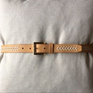 Vince Camuto woven detail leather belt Size L